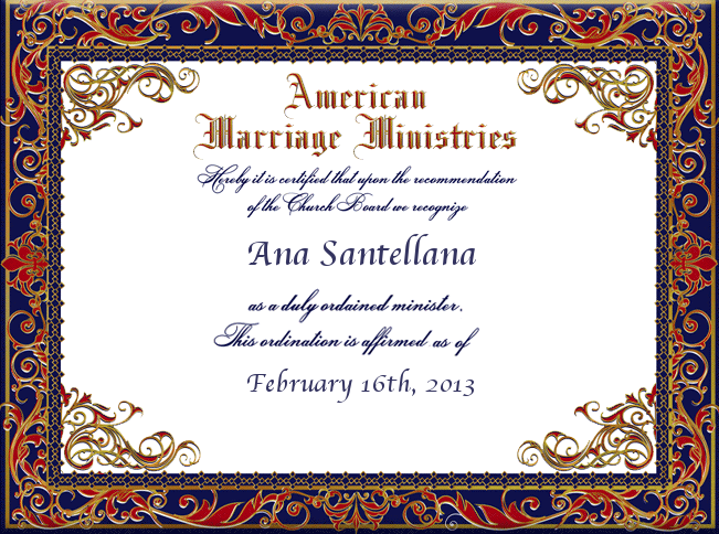 Just call me Rev. Ana.